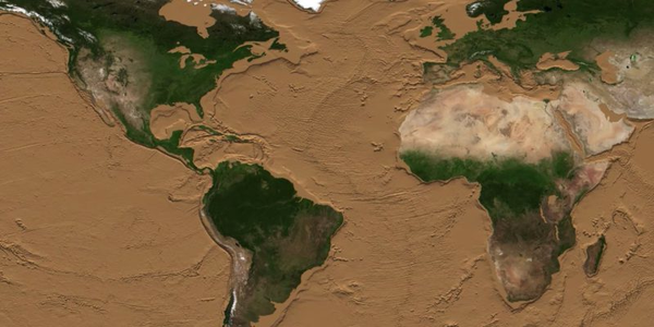 A NASA animation shows what the Earth's surface would look like if all the water evaporated...